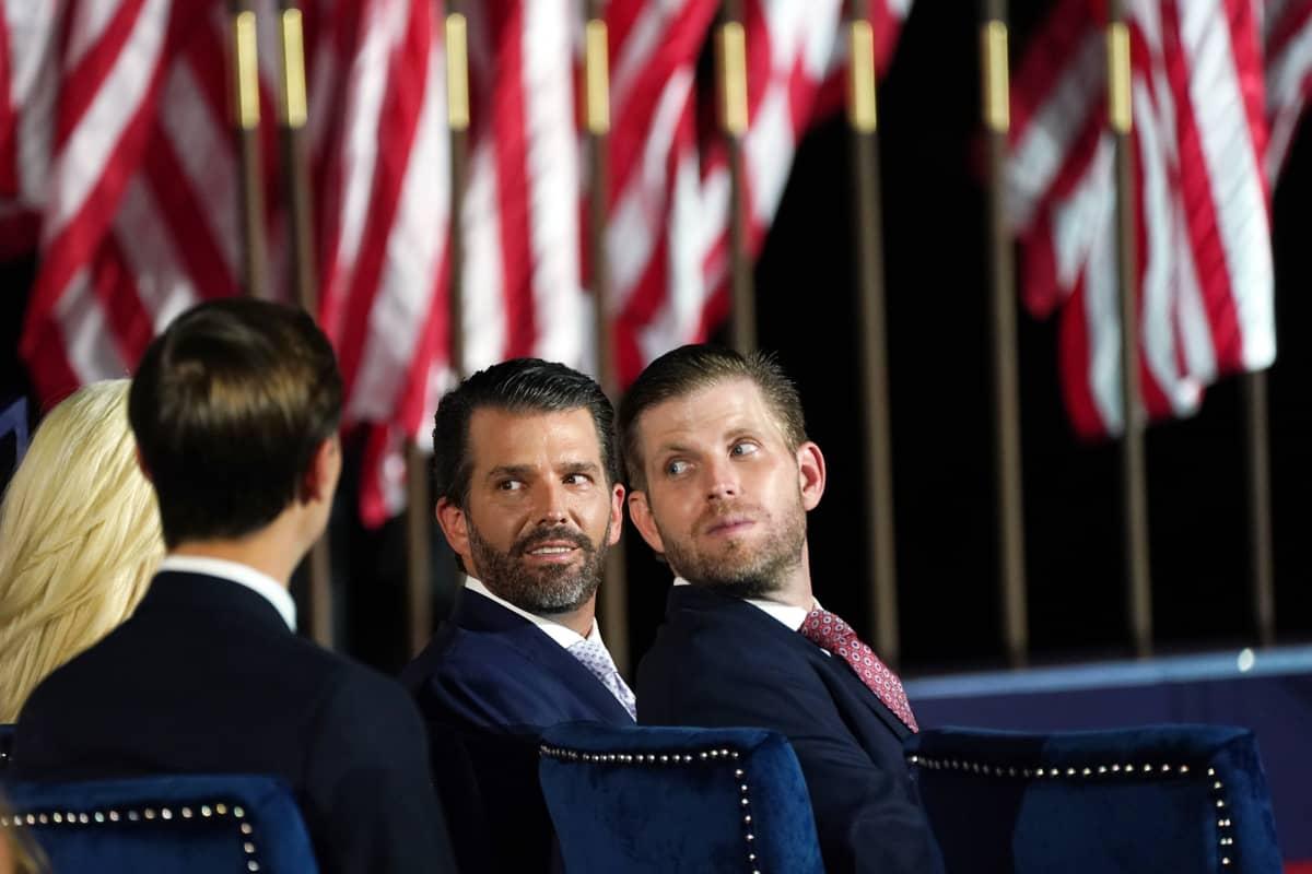 Jared Kushner, Eric Trump ja  Donald Trump Jr