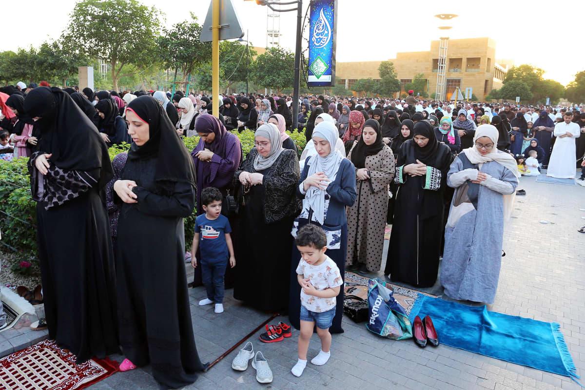 Eid al-Fitr-juhlaa vietettiin Riyadissa kesäkuussa 2019.