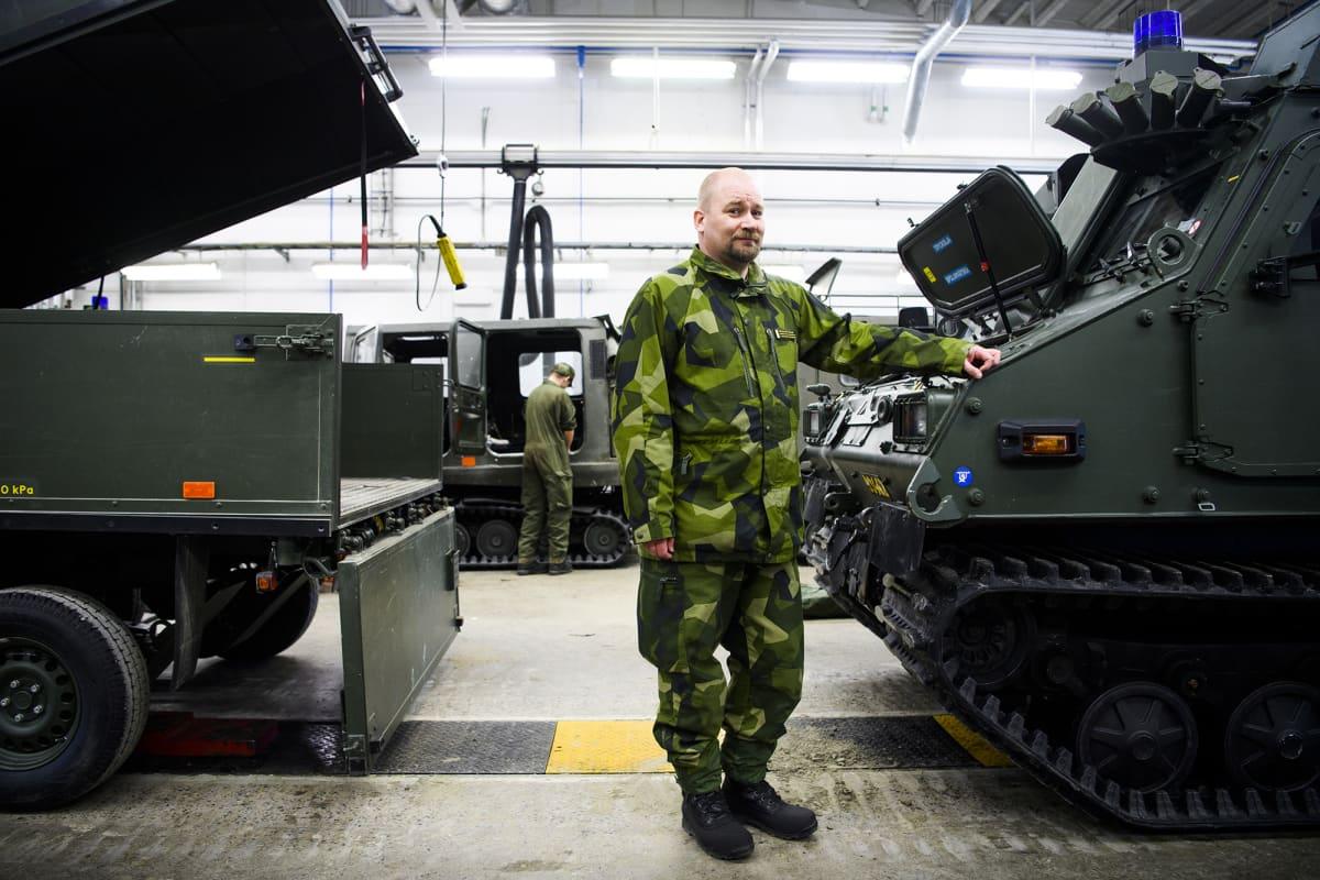 armeija, ylivääpeli Magnus Förare Norrbottenin rykmentti