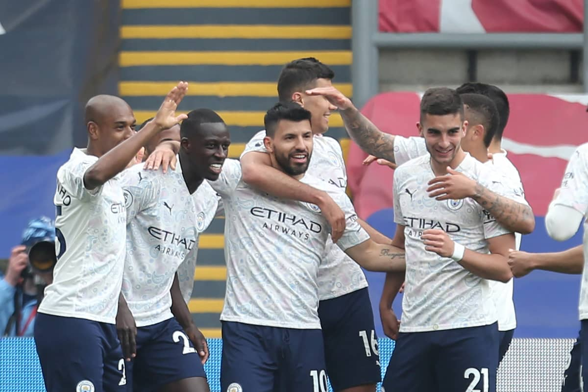 Manchester City juhlii Sergio Agueron maalia