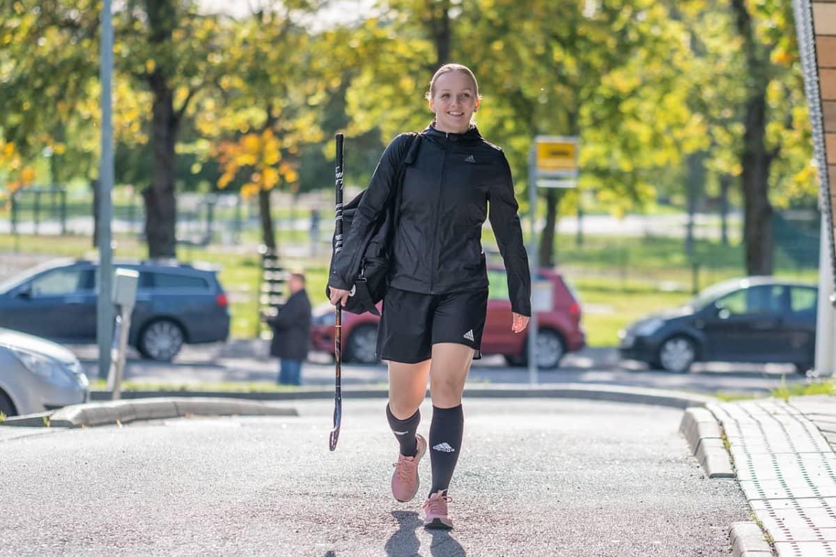 TPS:n naisten joukkueen kapteeni Jenna Saario