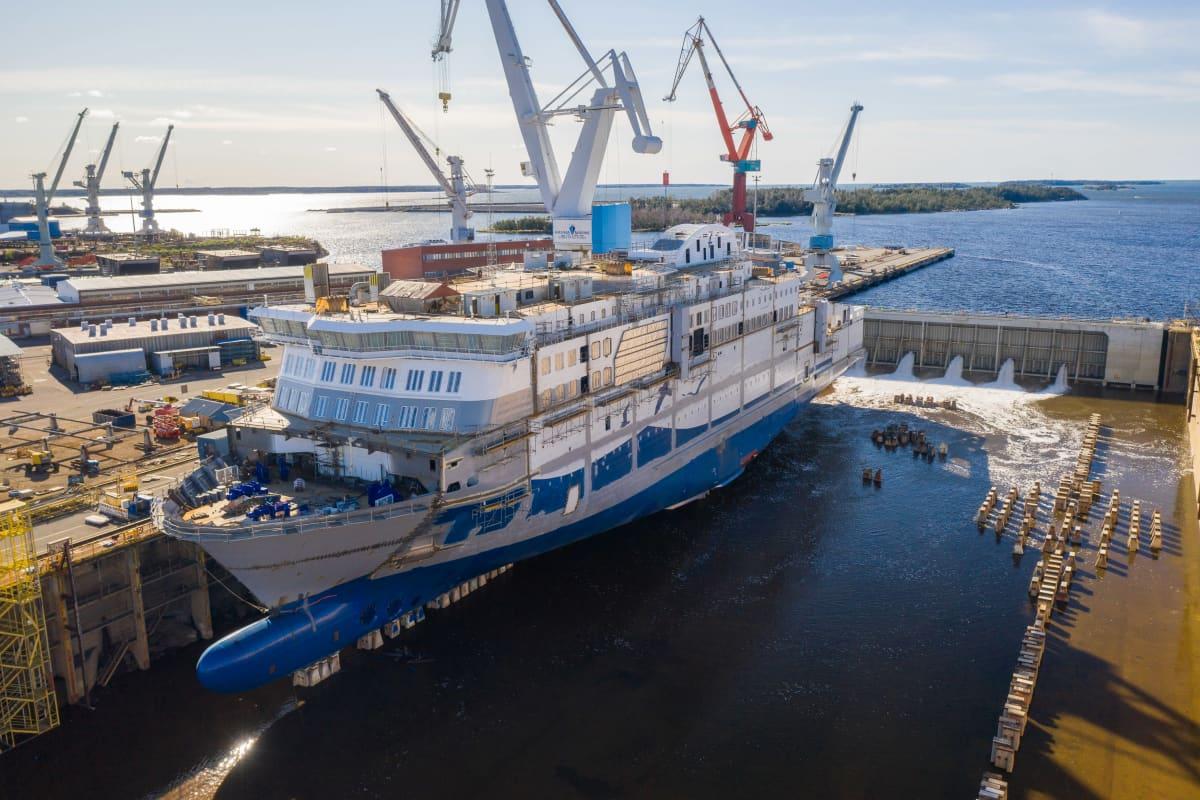 Aurora Botnia -laivaa rakennetaan Rauman telakalla