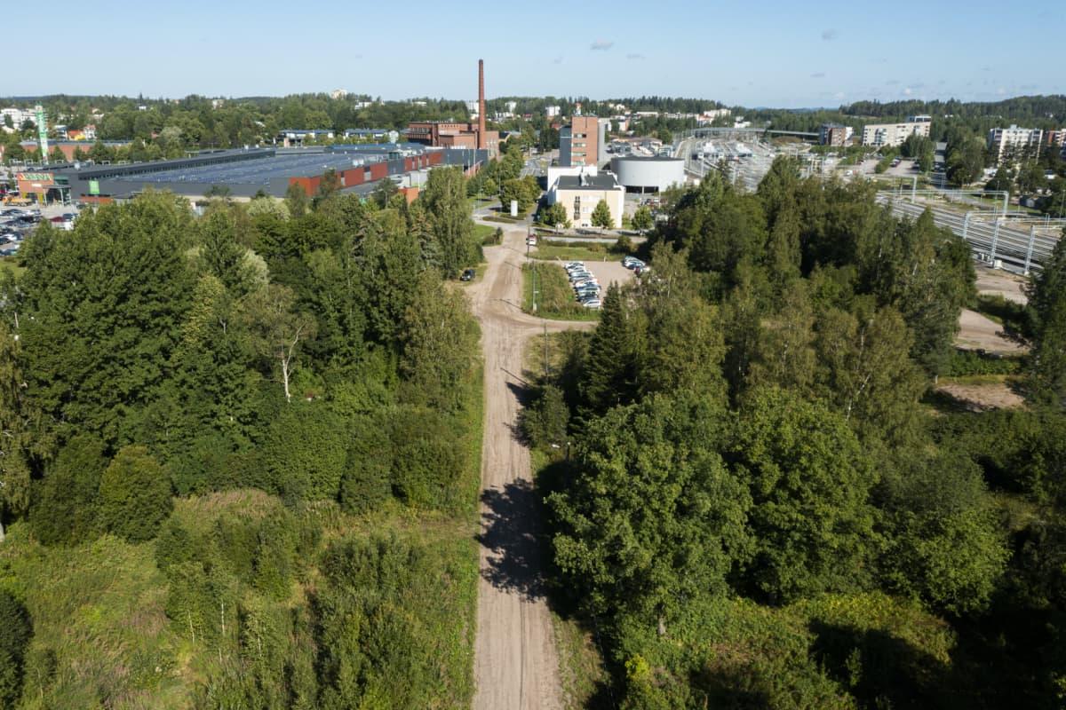 Vantaan joen uusi uoma kulkisi suunnilleen Kanavakatua pitkin.