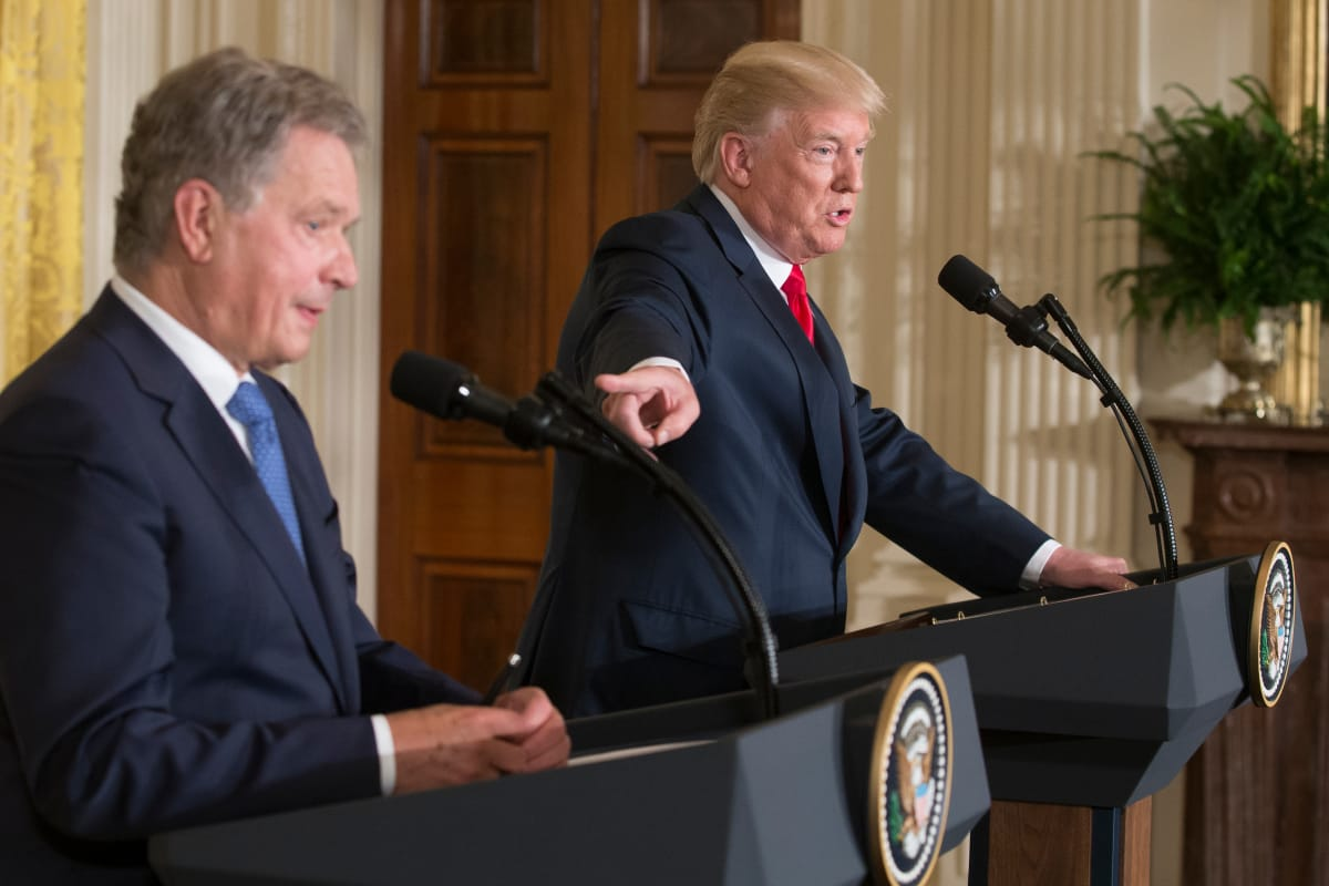 Katso tästä Trumpin ja Niinistön koko tiedotustilaisuus – Transatlanttinen yhteistyö nousi ...
