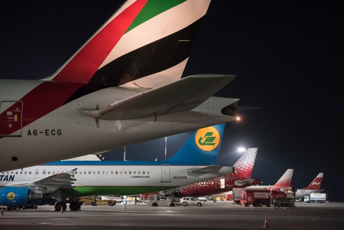 pietari pulkovo lentoasema matkustajakoneita