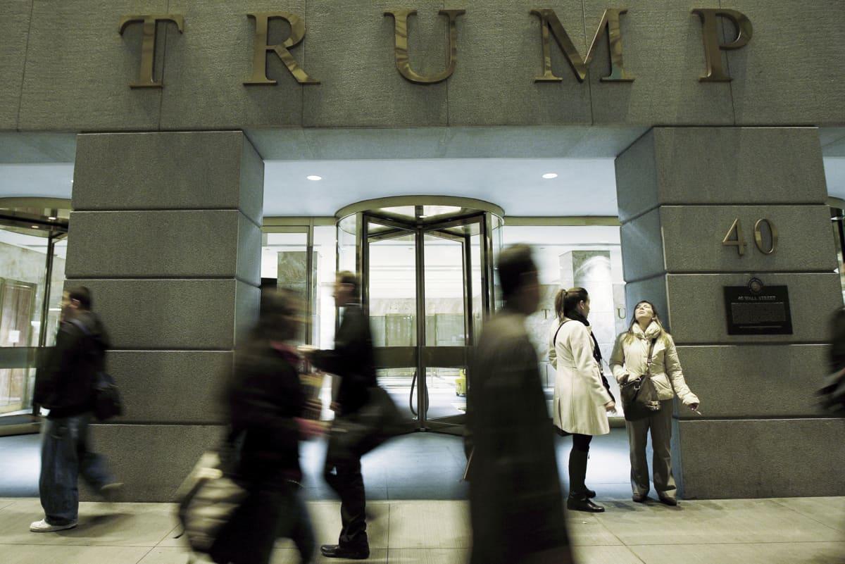 Trum-rakennus Wall Streetilla Manhattanilla.