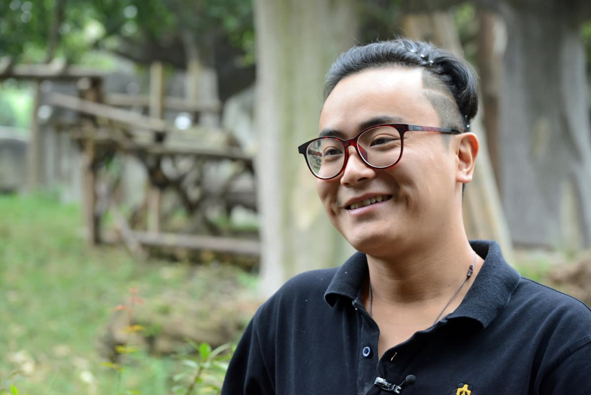 Pandatarhan hoitaja Zhang Yue.