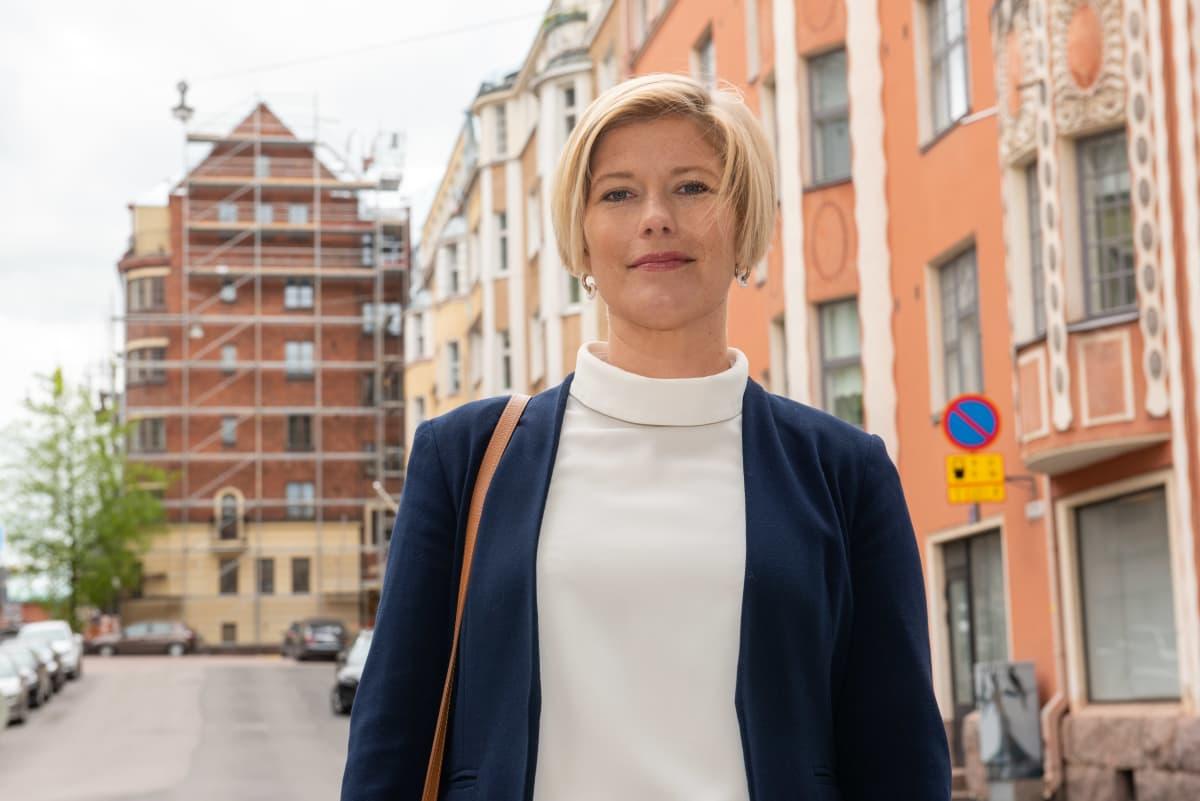 Suomalainen taloustieteilijä Heidi Schauman. Helsinki. 20.5.2021.