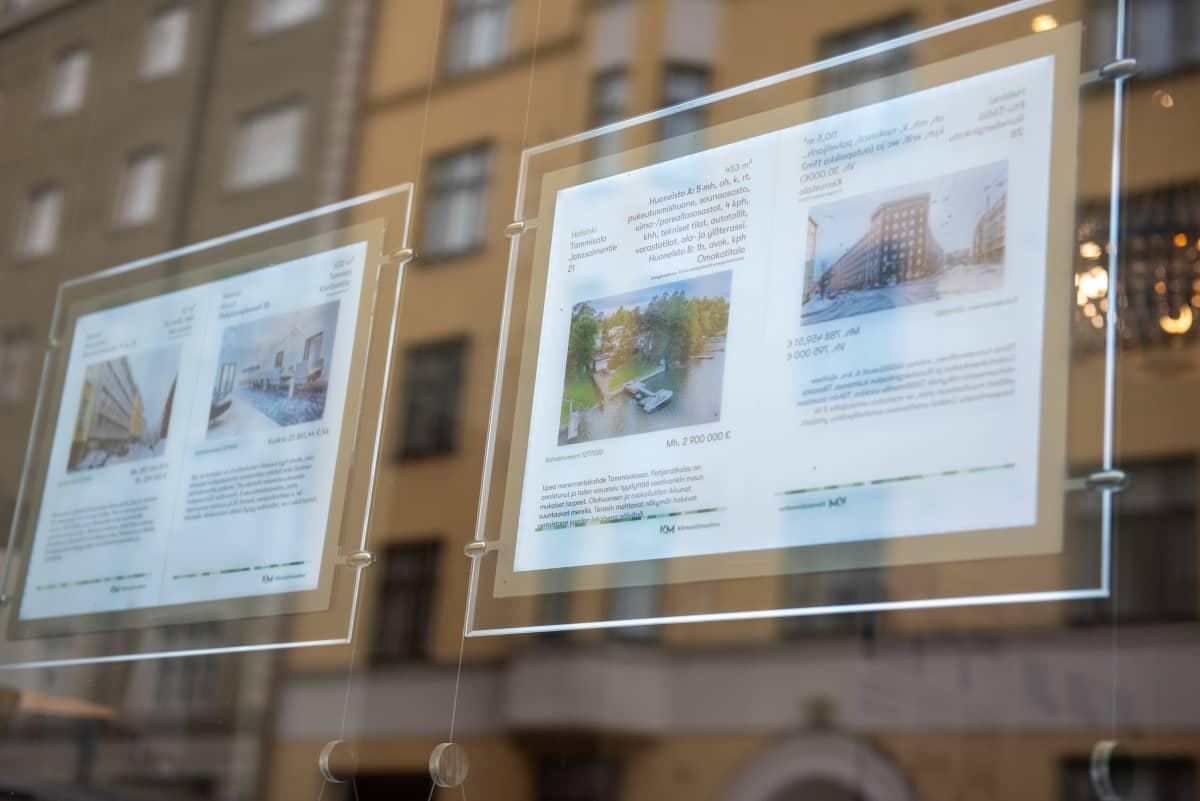 Asuntolainat. Kiinteistötoimisto. Helsinki. 20.5.2021.