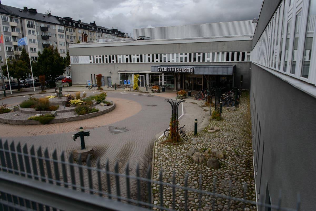 kuvassa yleisradioyhtiö SVT:n rakennuksia Tukholmassa