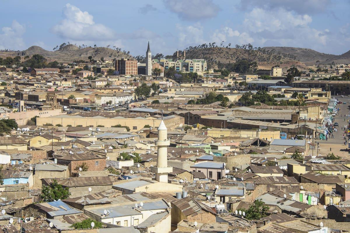 Ilmakuva Asmarasta.