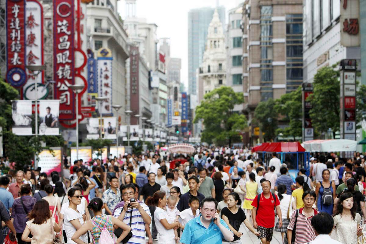 Shanghain ostoskatu.