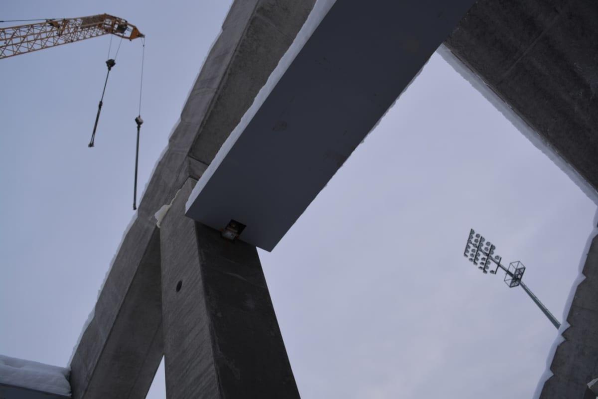 stadionin rakennustyömaa