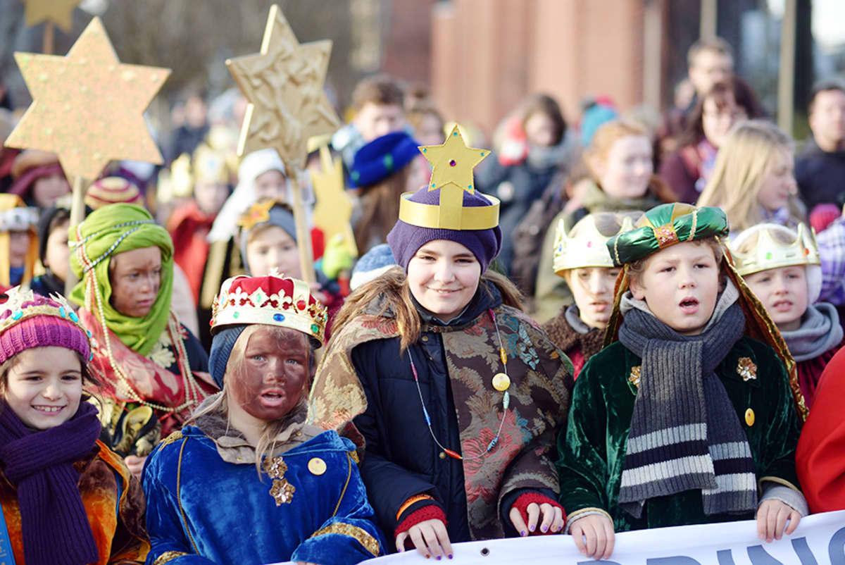 Lapsia Kölnissä joulukuussa 2014.