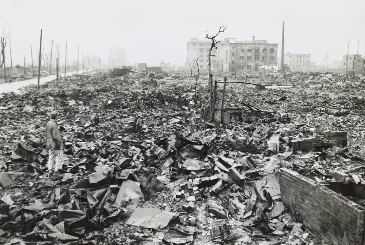 Hiroshiman raunioita 7.9.1945.
