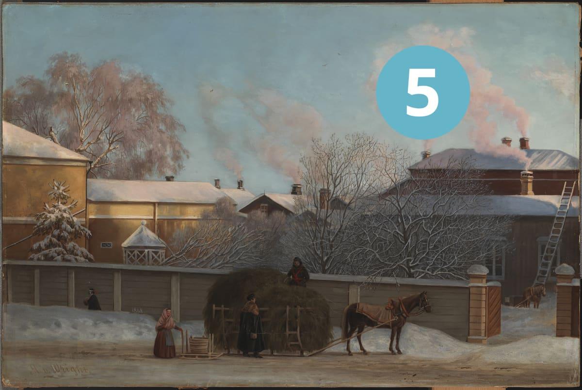 Magnus von Wright, Annankatu kylmänä talviaamuna, 1868