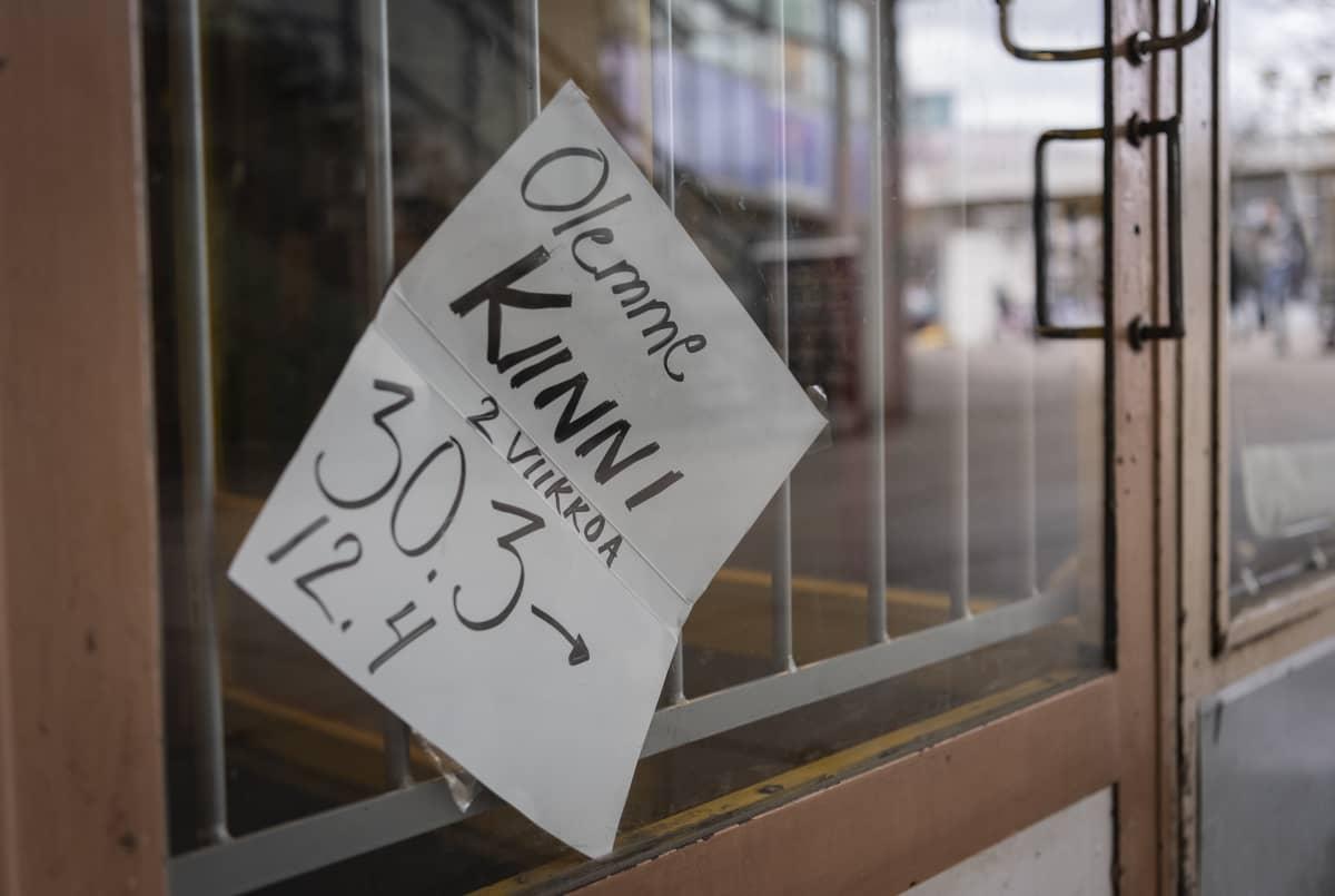 Suljettu liike Itäkeskuksessa
