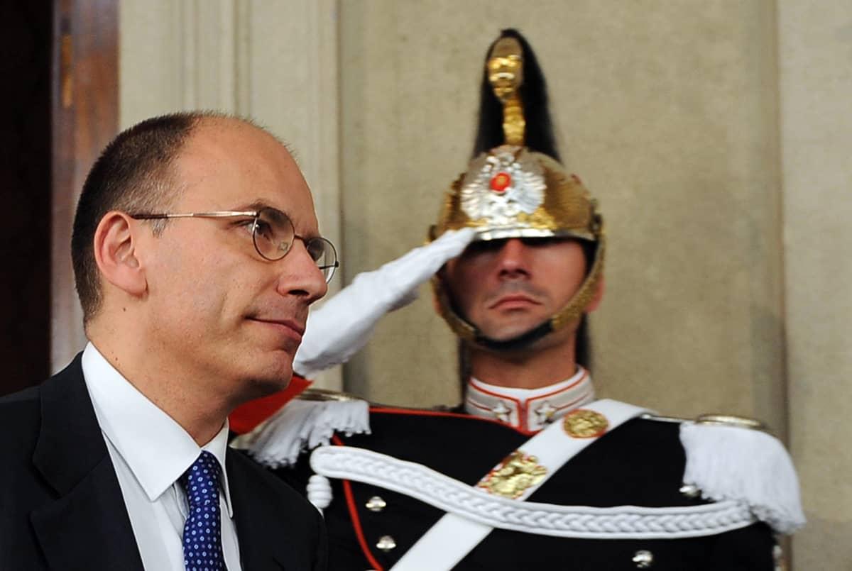 Hallituksen muodostajaksi nimetty Enrico Letta.