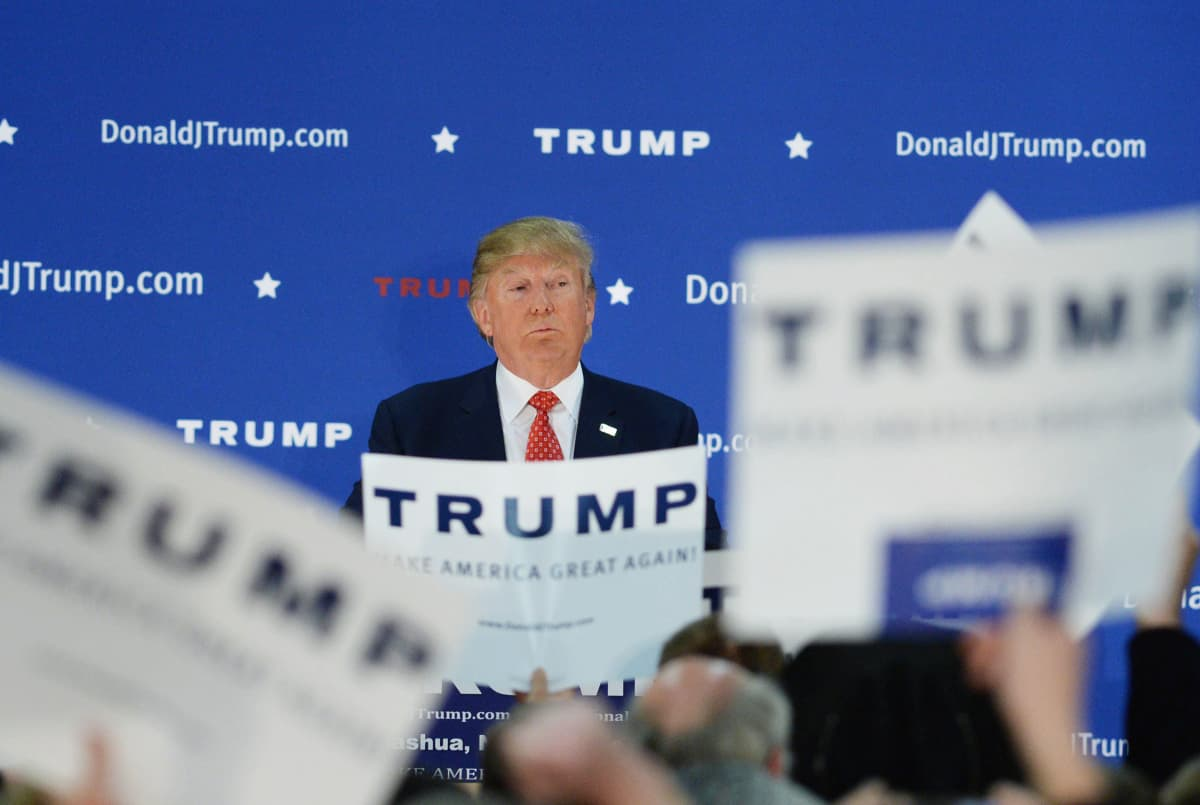 Donald Trump kampanjoimassa Nashuassa, New Hampshiressa, 28. joulukuuta.