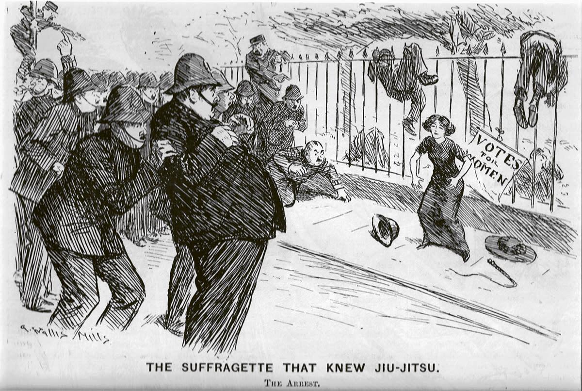 Historiallinen kuva suffragettistä