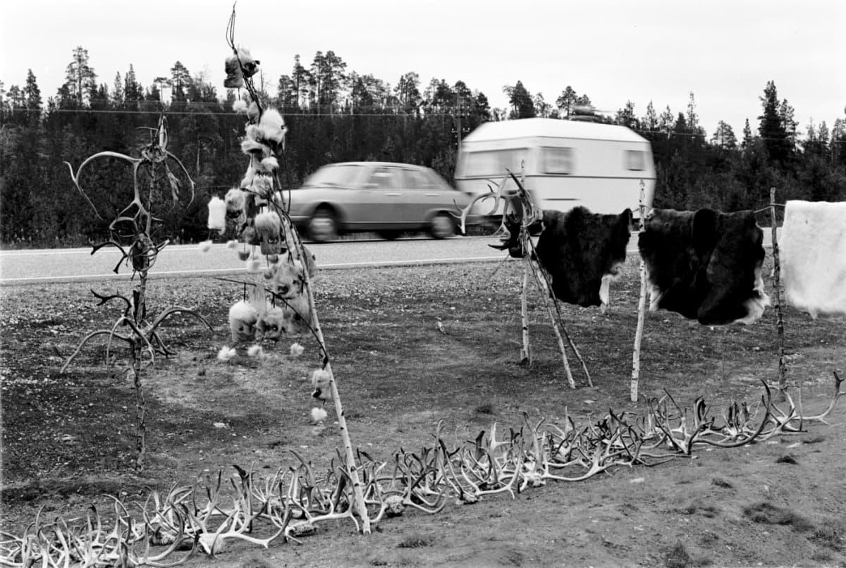 Saamelaismuseo Siidan valokuva 60- tai 70-luvulta.
