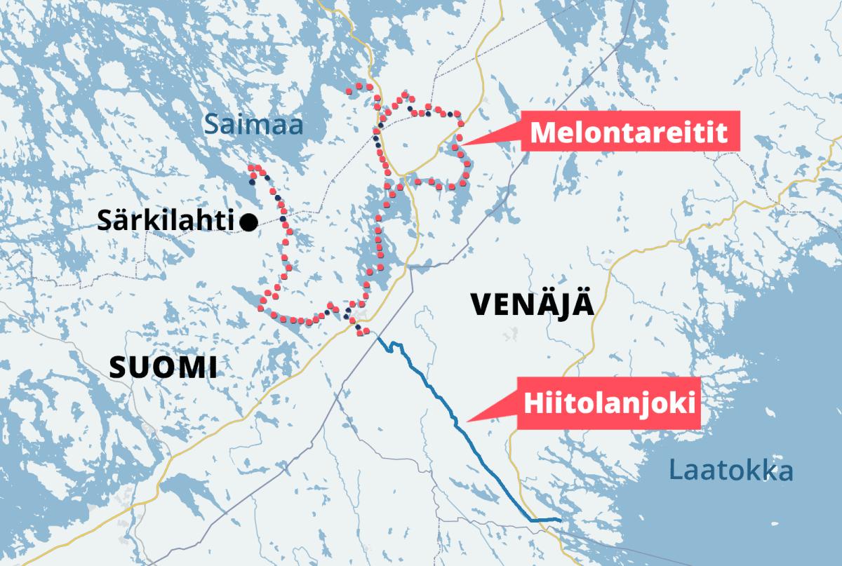 Karjalaisten kulureitti Laatokalta Saimaalle