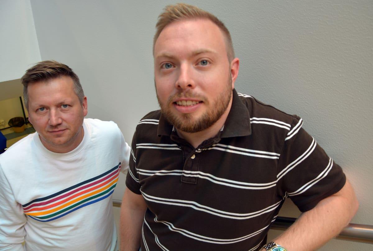 Muovan muotoilijat Janne Pekkala ja Tommi Siljamäki