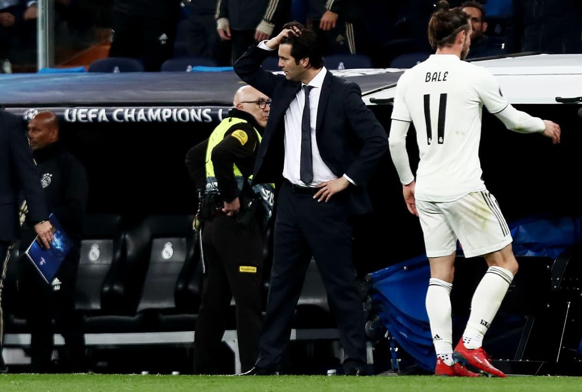 Real Madrid-valmentaja Santiago Solari ihmeissään