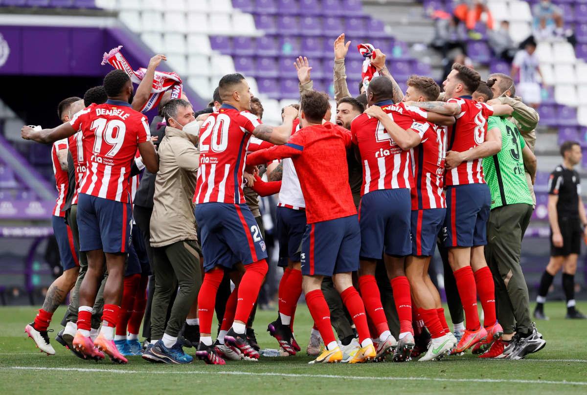 Atletico Madrid juhlii mestaruutta.