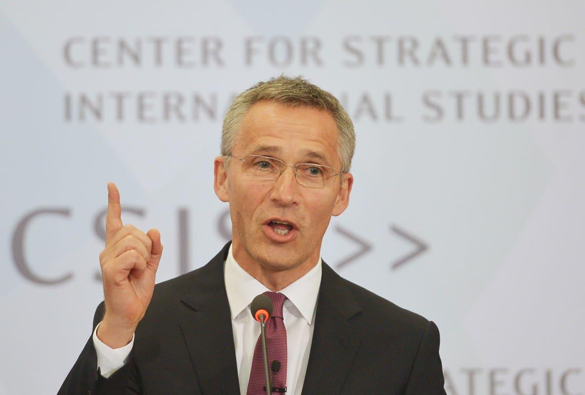 Naton pääsihteeri Jens Stoltenberg WAshingtonissa 27. toukokuuta.