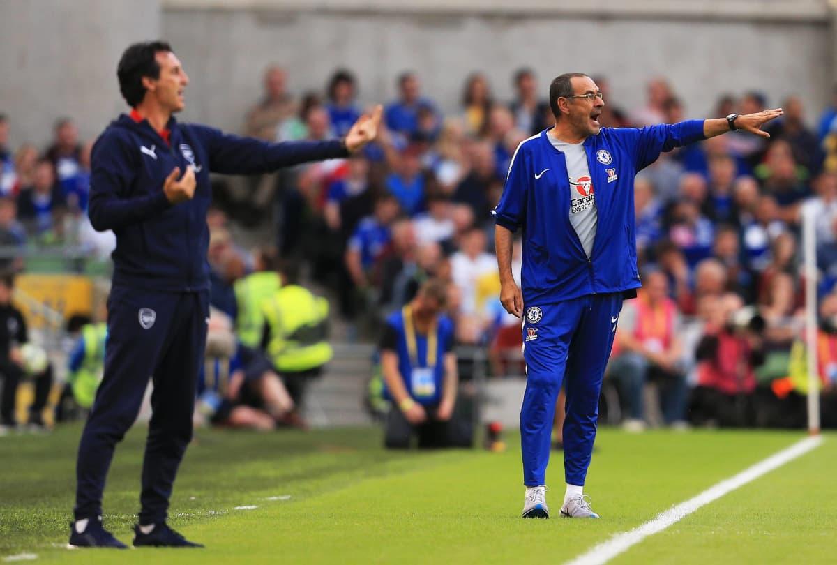 Unai Emery ja Maurizio Sarri johdattavat Arsenalin ja Chelsean uuteen aikaan.