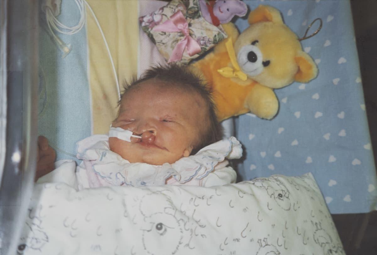 Jasmin Pyykkö vauvana.