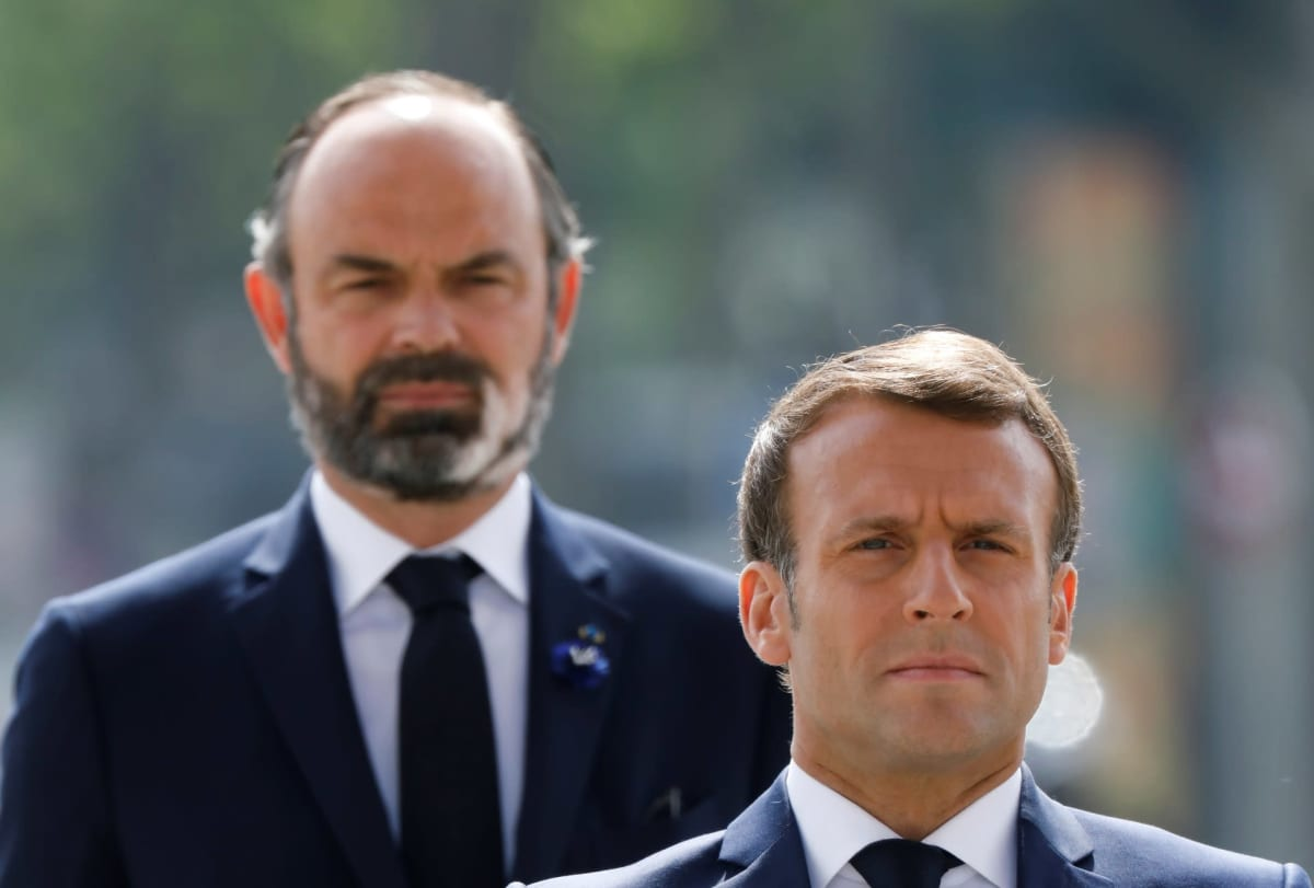 Édouard Philippe ja Emmanuel Macron