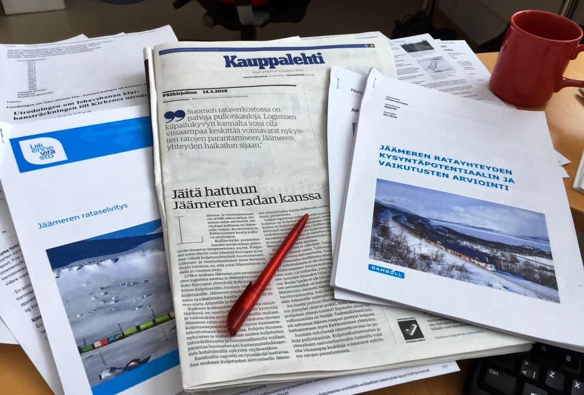 Jäämerenrataa koskevia selvityksiä