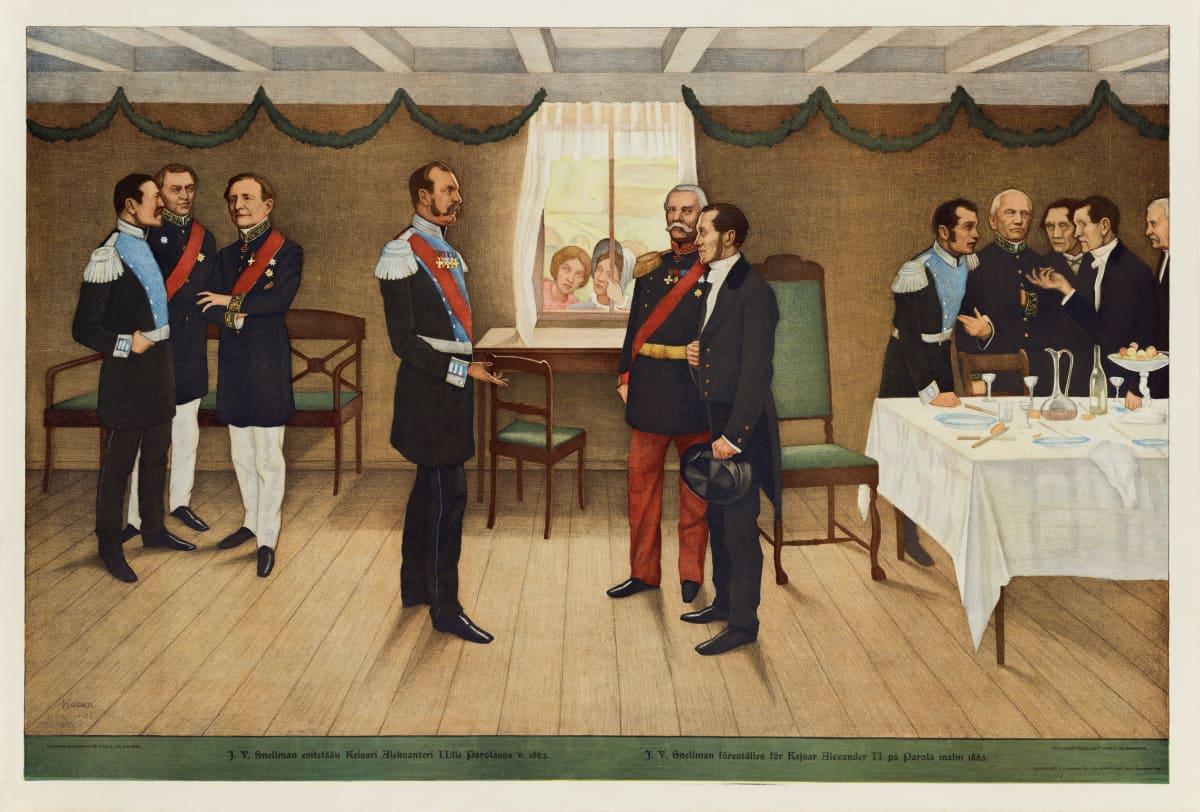 Snellman tapasi keisari Aleksanteri II:n vuonna 1863