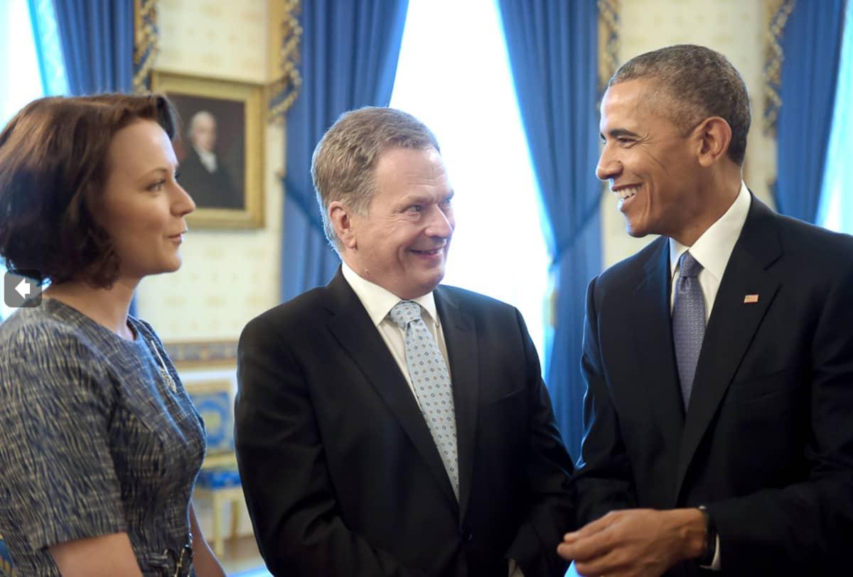 Presidentti Sauli Niinistö puolisoineen tapasi presidentti Barack Obaman Valkoisessa talossa.