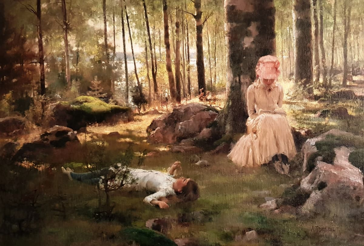 Koivujen alla, 1882