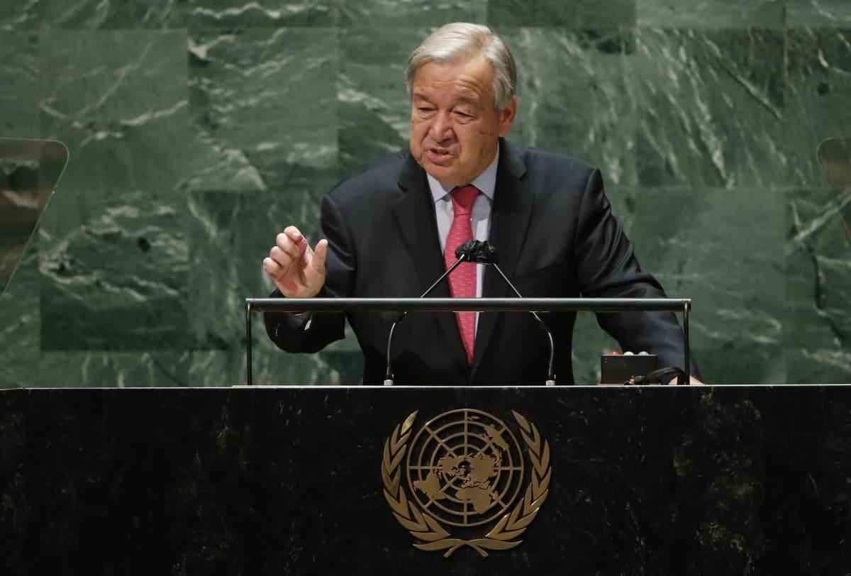 YK:n pääsihteeri António Guterres vaati maailman johtajilta tositoimia.