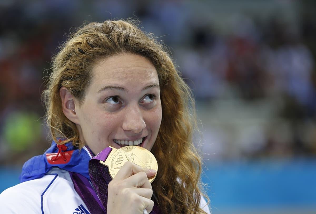 Camille Muffat voitti olympiakultaa Lontoossa