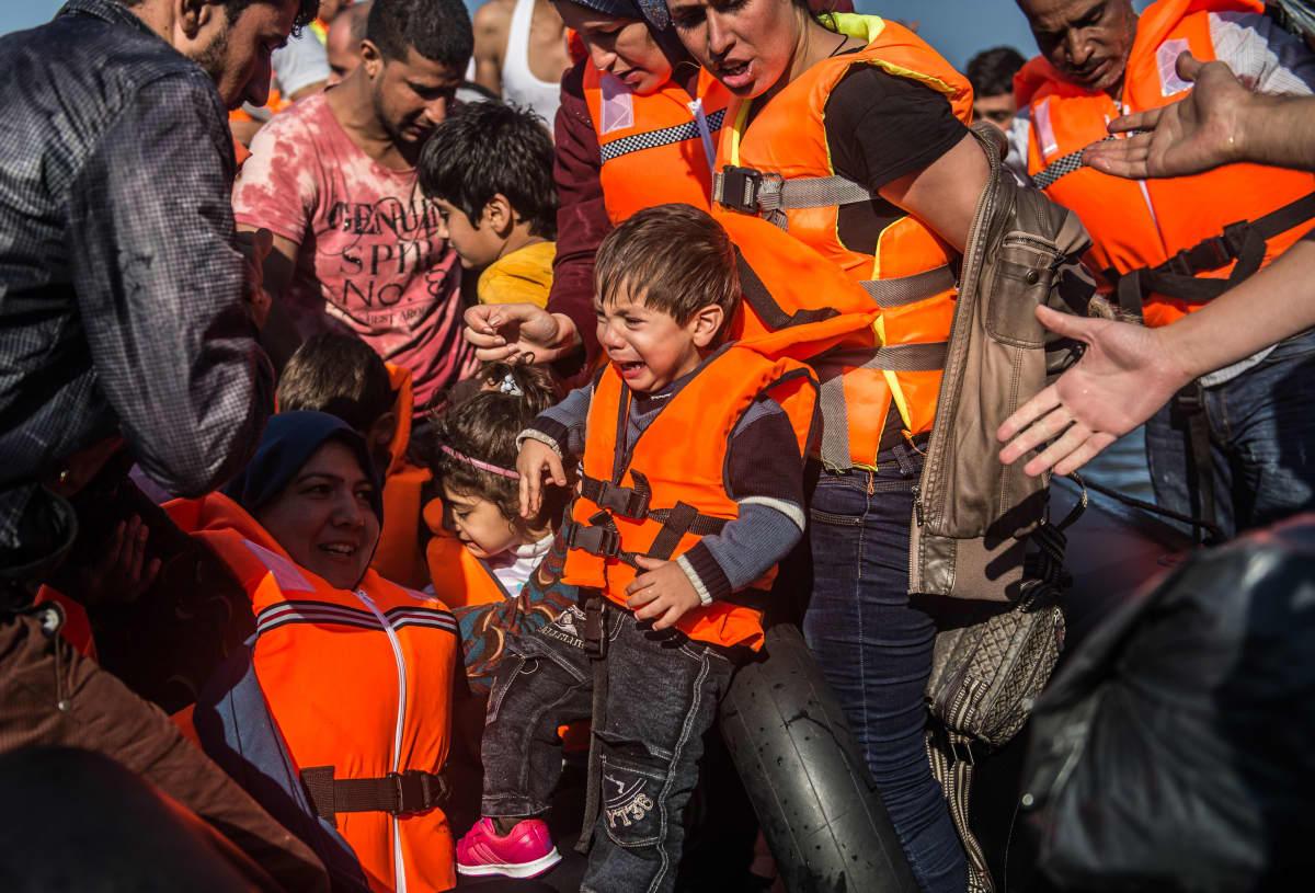 Syyrialaispakolaiset saapuvat Lesbokselle