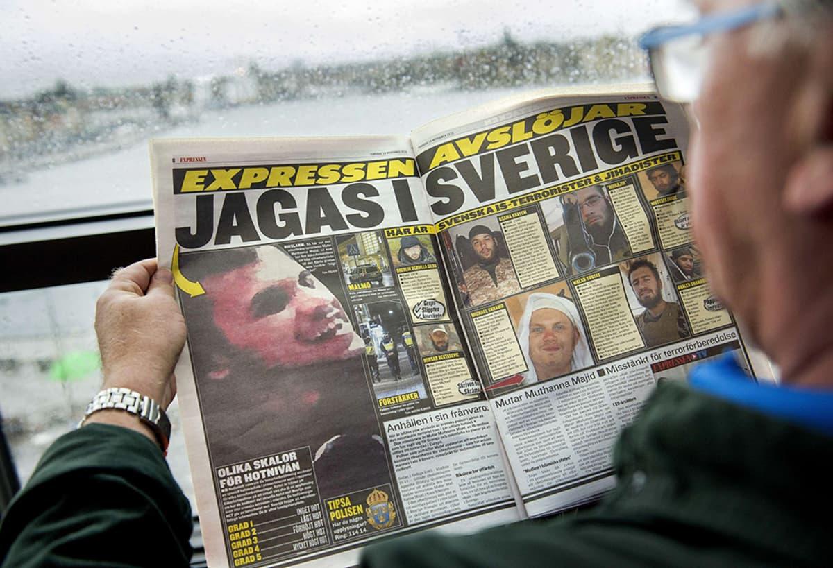 Expressen -lehteä.