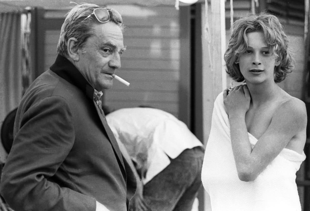 Näyttelijä Björn Andrésen ja italialaisohjaaja Luchino Visconti.