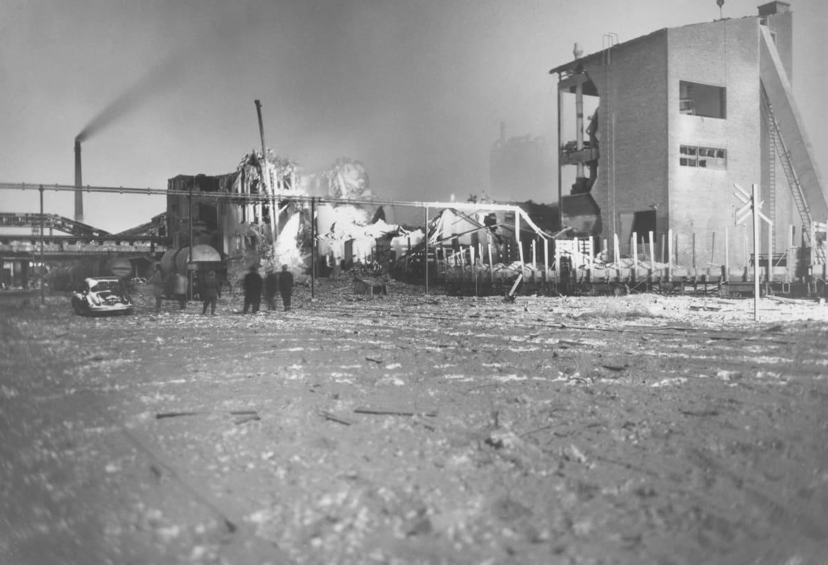 Oulun Typpi Oy:n räjähtänyt salpietarilaitos 9.1.1963.