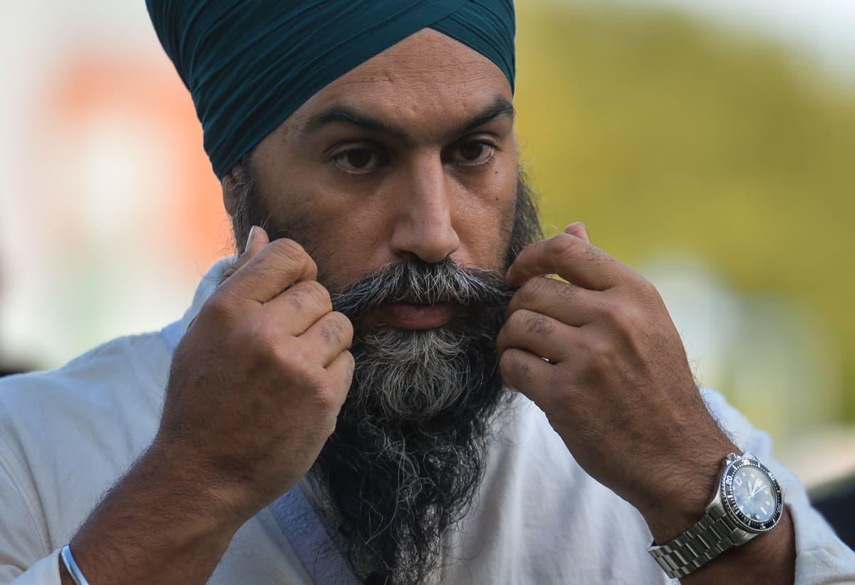 Vasemmistolaisen Uudet demokraatit -puolueen johtajasta Jagmeet Singhista tulee uudessakin parlamentissa Trudeaun tärkein tukija.