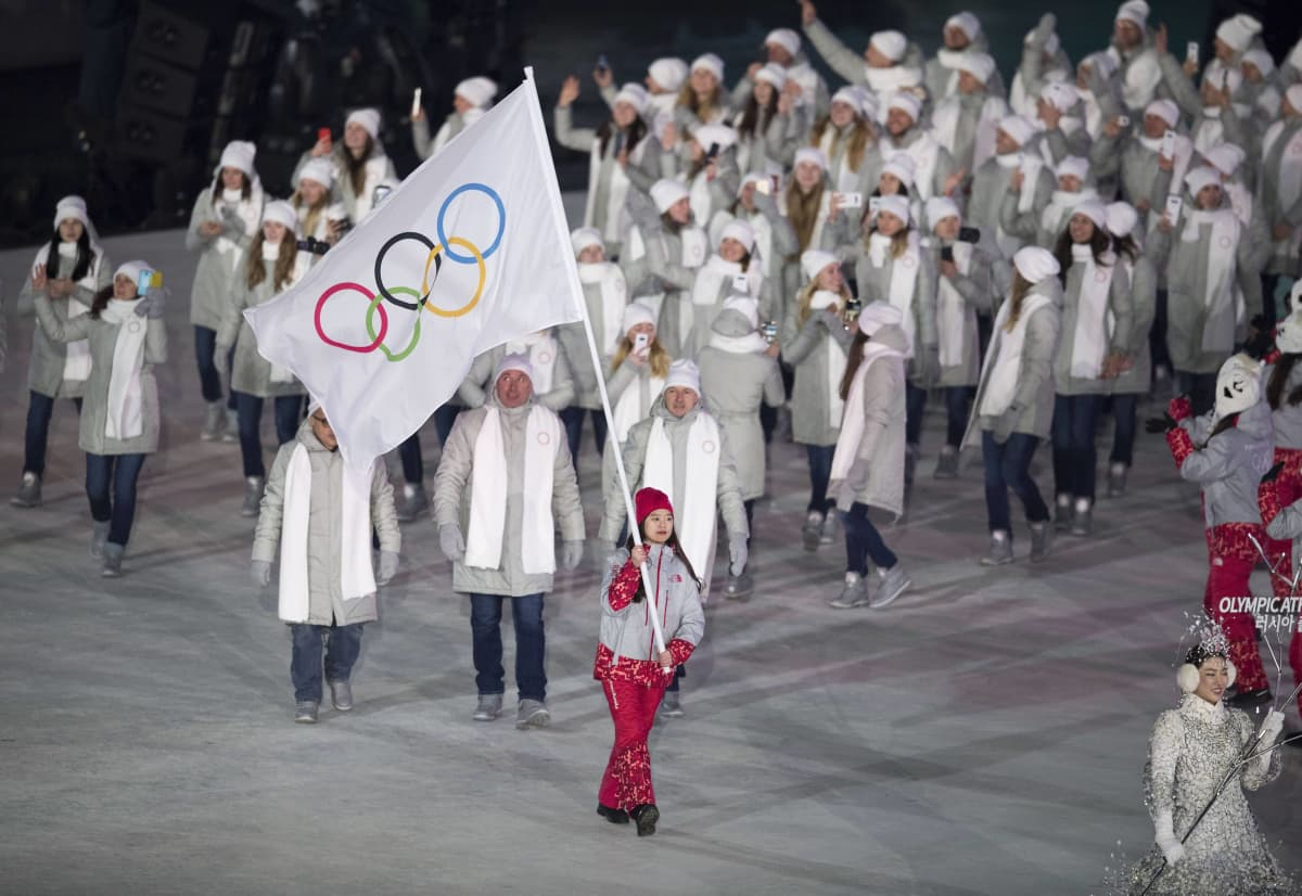 Venäläiset Pyeongchangin avajaisissa