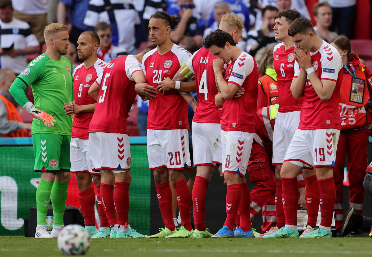 Tanskan jalkapallomaajoukkue järkyttyi, kun