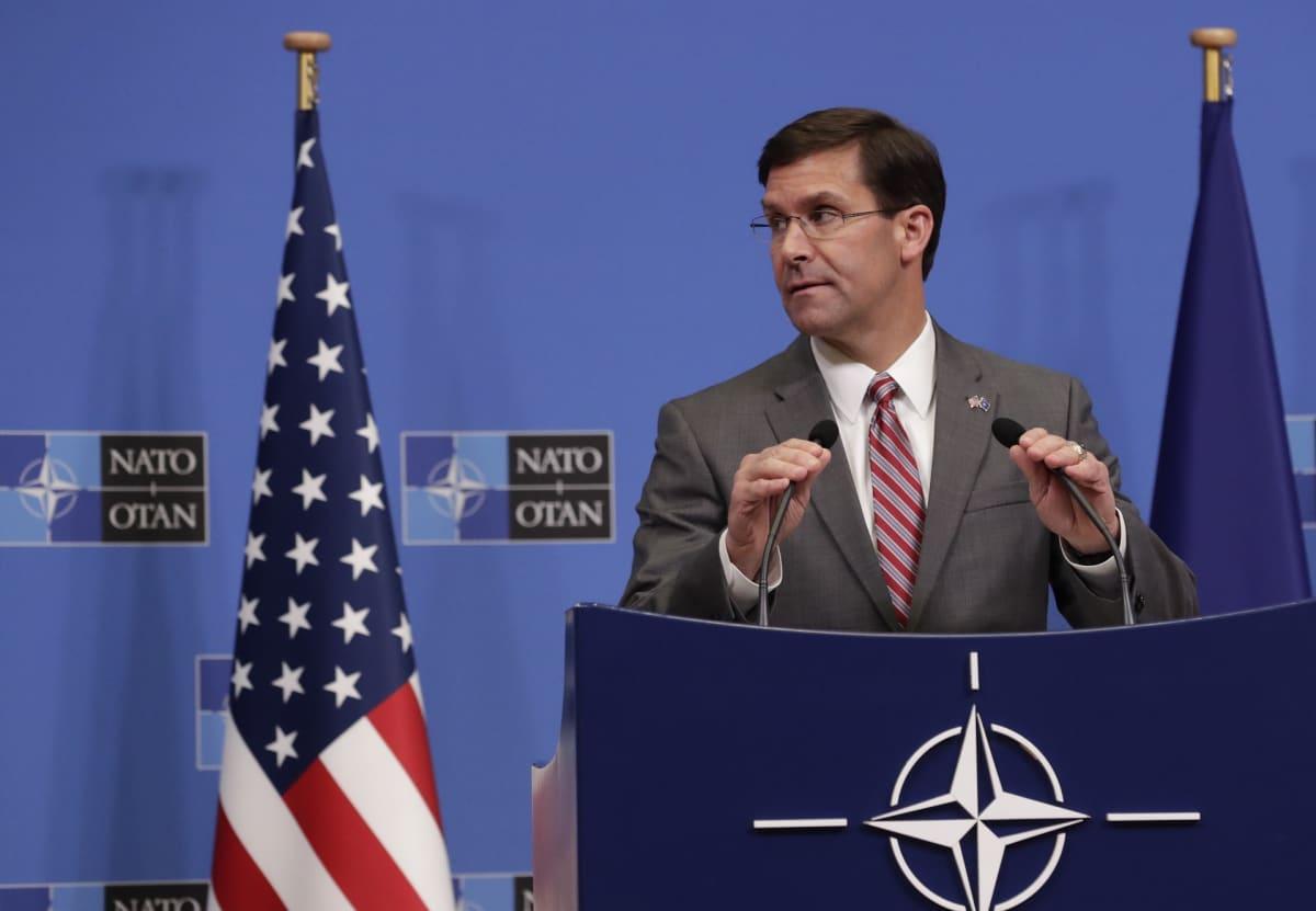 Mark Esper nimitettäneen pian Yhdysvaltain uudeksi puolustusministeriksi.