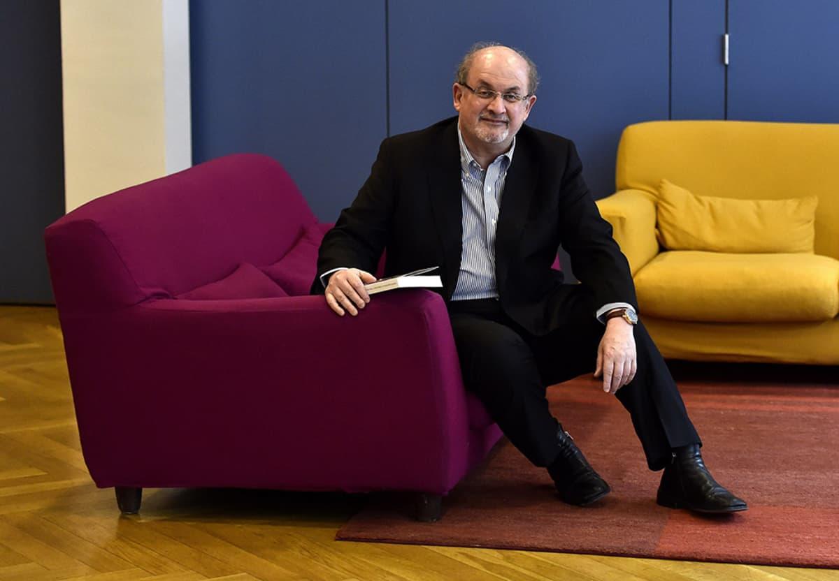 Salman Rushdie kuvattuna Madridissa 6. lokakuuta.