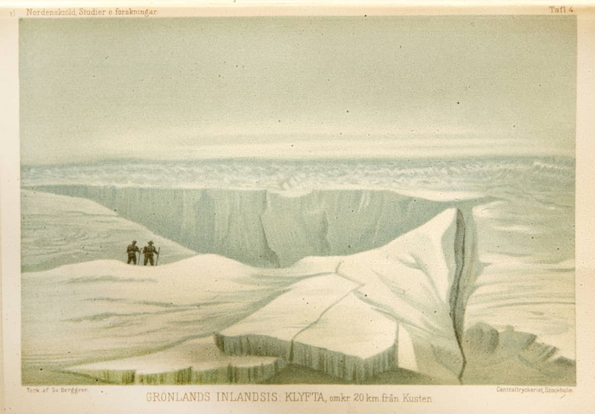 A. E. Nordenskiöld ja ruotsalainen kasvitieteilijä Sven Berggren Grönlannissa vuonna 1870.