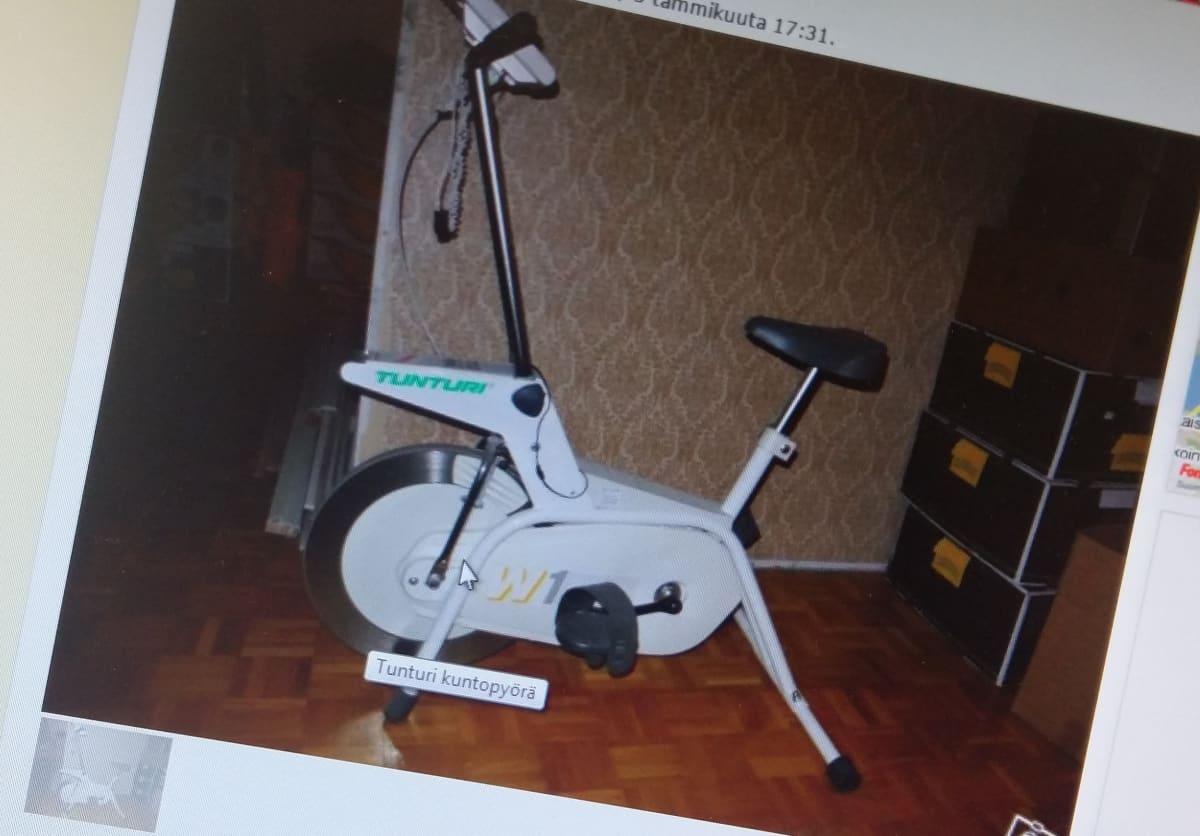 kuntopyörä myynti-ilmoituksessa